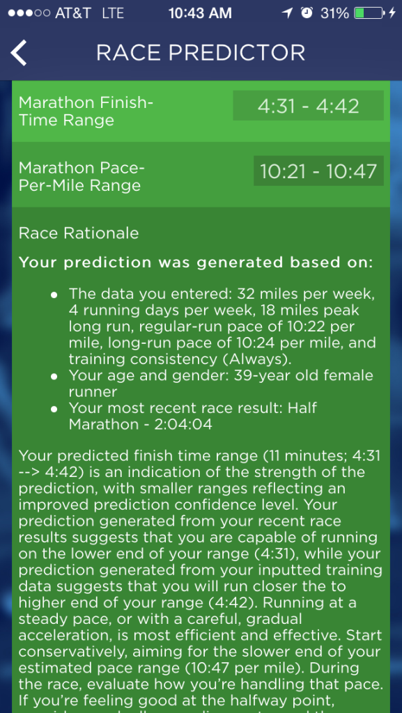 Race prediction